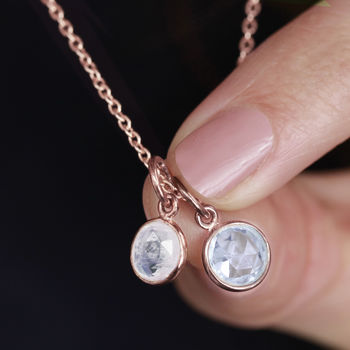 18ct Rose Gold Birthstone Gemstone Necklace