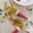 Red Santa Hat Shaped Christmas Party Poppers