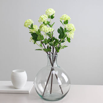 Artificial Lime Viburnum 55cm Stem