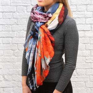 Abstract Art Print Personalised Scarf - scarves