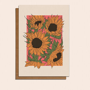 Sunflower Illustrated Greetings Card