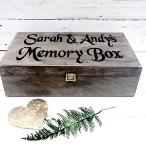 Personalised Memory Box - ribbon & wrap