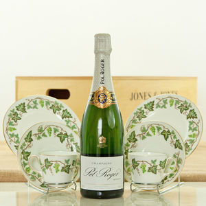 Champagne And Vintage Vines Luxury Hamper Box - food gifts