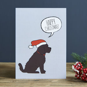 Cockapoo Christmas Card