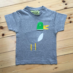 Children's Handprinted Duck T Shirt