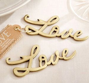 'Love' Gold Bottle Opener