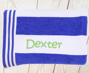 Personalised Beach Towel - bed, bath & table linen