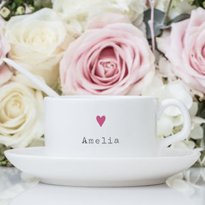 Personalised Cup And Saucer - tableware