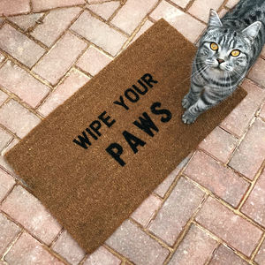 'Wipe Your Paws' Doormat - rugs & doormats