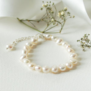 Girl's Extending Pearl Bracelet