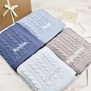 Luxury Baby Boy Cable Blanket