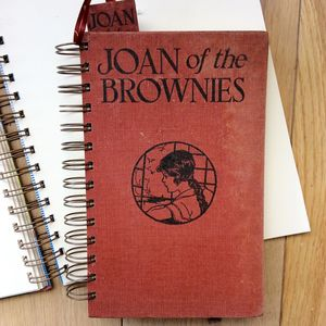 'Joan Of The Brownies' Upcycled Notebook