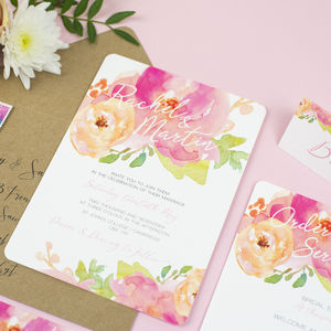 Rose Bloom Wedding Collection - invitations