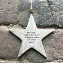 How Long Will I Love You Ceramic Hanging Star