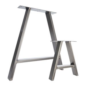 Two Table Legs Dining 'A' Pedestals In Industrial Steel - dining room