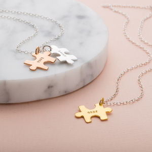 Personalised Jigsaw Necklace - children's jewellery