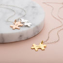 Thumb jigsaw friendship necklaces