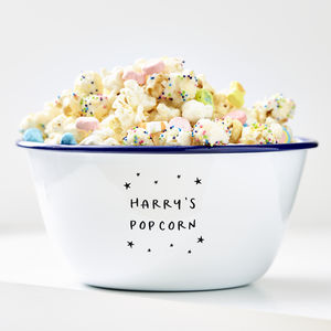 Little Stars Personalised Popcorn Bowl - children's tableware