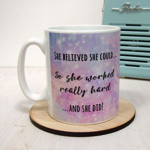 She Believed She Could Mug Sparkles