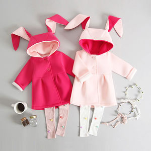 Bunny Jacket And Pom Pom Leggings Set - outfits & sets
