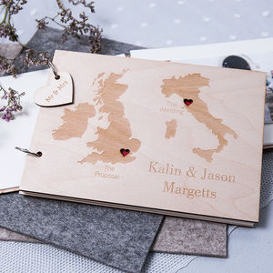 Personalised Duo Destination Map Guest Book - personalised