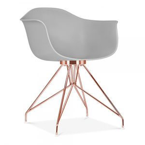 Chair, Modernist Copper Base Chair - furniture