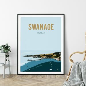 Swanage, Dorset Fine Art Travel Poster