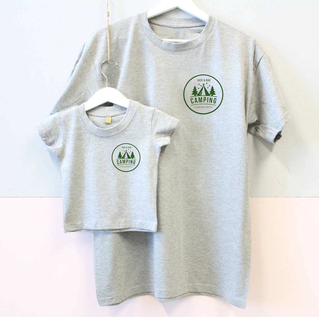 Father And Child Matching Camping T Shirts By Precious Little Plum
