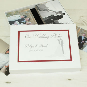 Personalised Bride And Groom Wedding Photo Storage Box