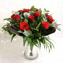Romantic Dozen Red Rose Luxury Bouquet