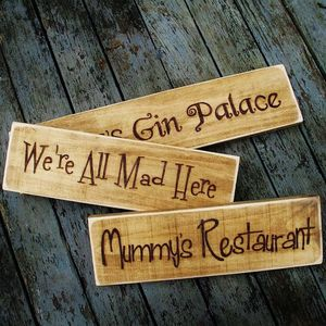 Personalised Vintage Wooden Signs - art & decorations