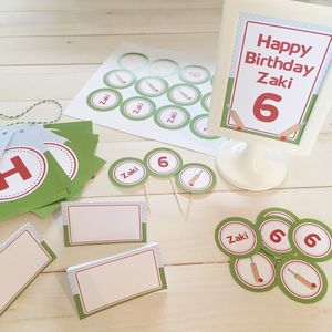Cricket Personalised Party Decorations Pack
