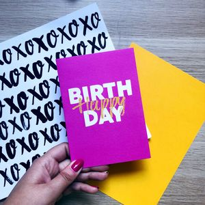 Colourful 'Happy Birthday' Card Pink