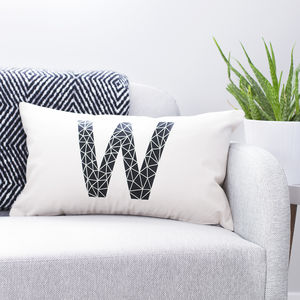 Personalised Geometric Cushion - new in home