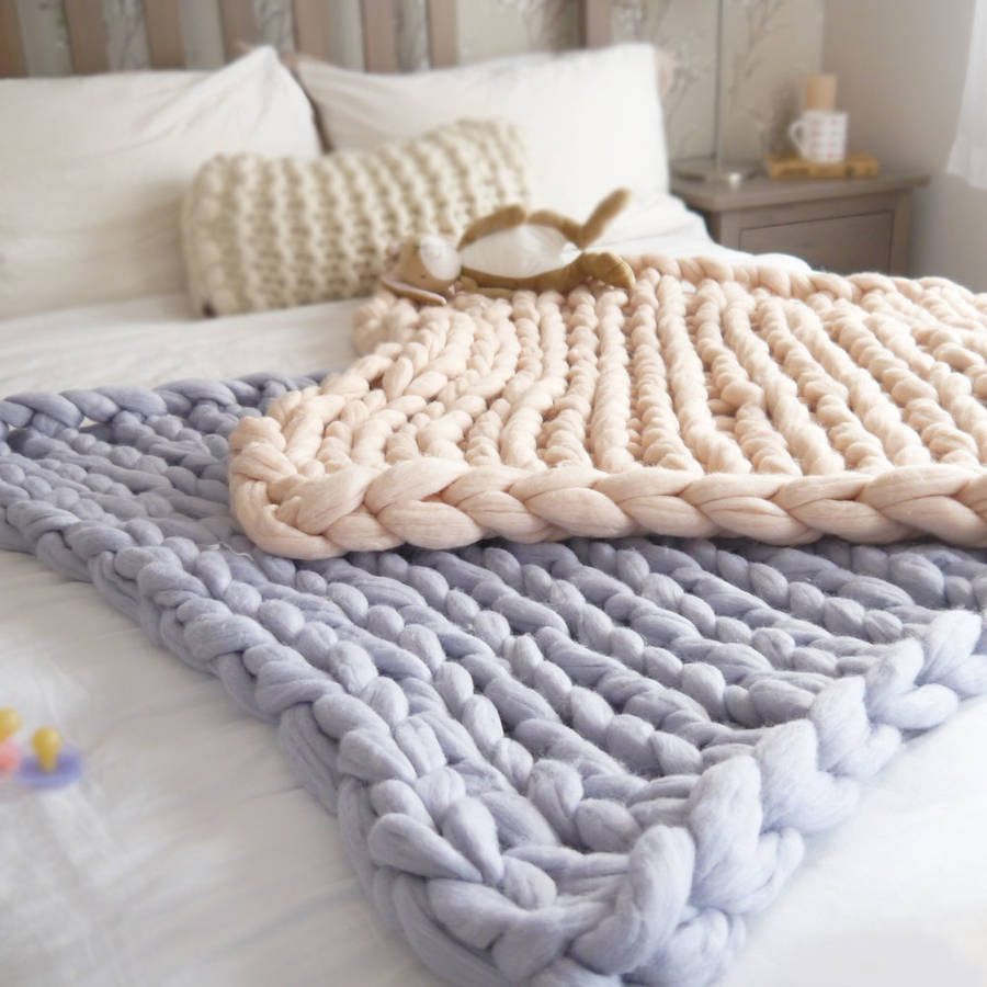 Knitting A Chunky Blanket : Super chunky knit baby blanket by lauren aston