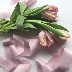 Six Yards Vintage Rose Hand Dyed Silk Ribbon - ribbons