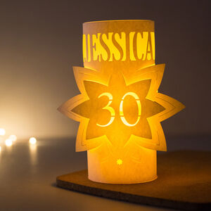 30th Birthday Personalised Star Lantern Centrepiece