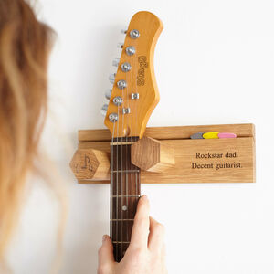 Personalised Guitar Hanger Non Symmetrical Head Stock