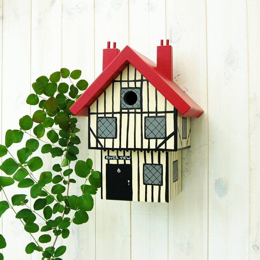 Personalised Tudor House Bird Box
