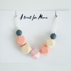 Pastel Geometric Teething Necklace