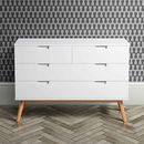White Oak Mid Century Chest Of Drawers