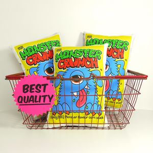 Novelty Monster Crisps Cushion - cushions