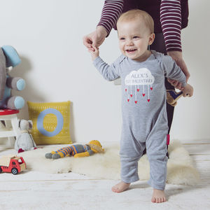 Personalised 'My First Valentines' Babygrow - babygrows