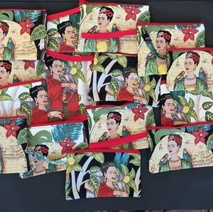 Frida Kahlo Coin Purse Or Make Up Bag - more