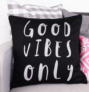 'Good Vibes Only' Cushion Cover - cushions