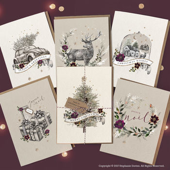 Pack Of Luxury Christmas Cards