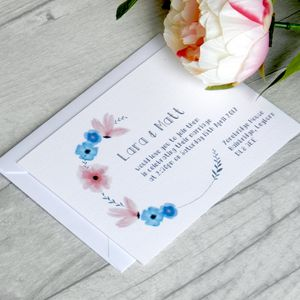 Floral Garland Wedding Invitation - invitations