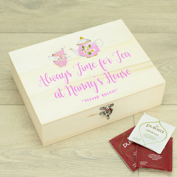 Personalised Always Time For Tea Caddy