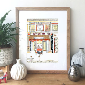 Patisserie Hand Drawn Illustration Print - posters & prints