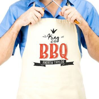 **Personalised 'King Of The Bbq' Apron
